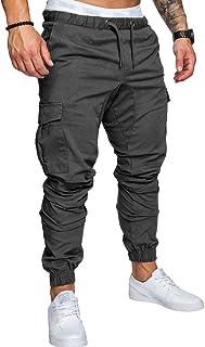 SOMTHRON Hombre Cinturón de cintura elástico Pantalones de