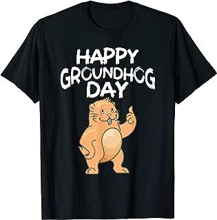 Funny Groundhog Woodchuck Gift Happy Groundhog Day T-Shirt