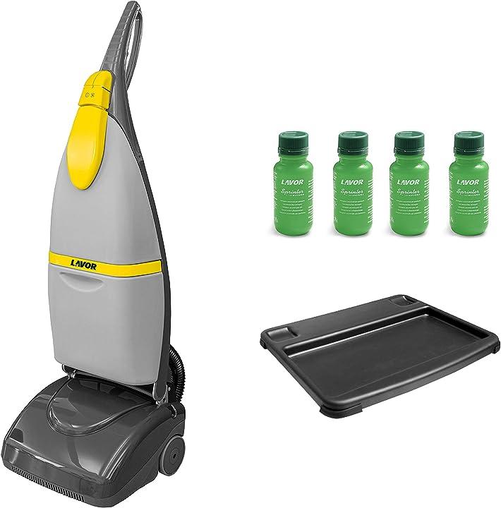 Lavasciuga pavimenti sprinter, lava e asciuga in una sola passata, 1000 watt, lavor 8.501.0501