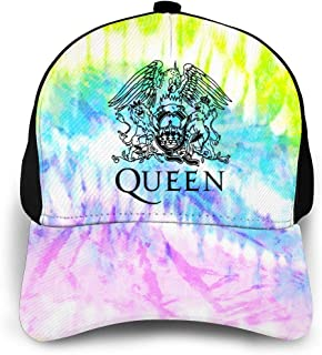 Queen Rock Band Freddie Mercury Mens Womens Tie Dye Baseball Dad Cap Bohemian Rhapsody Classic Plain Hat