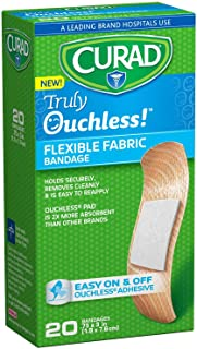 """Curad CUR5002 Truly Ouchless Silicone Bandage, 3/4"""" x 3"""" (Pack of 480)"""