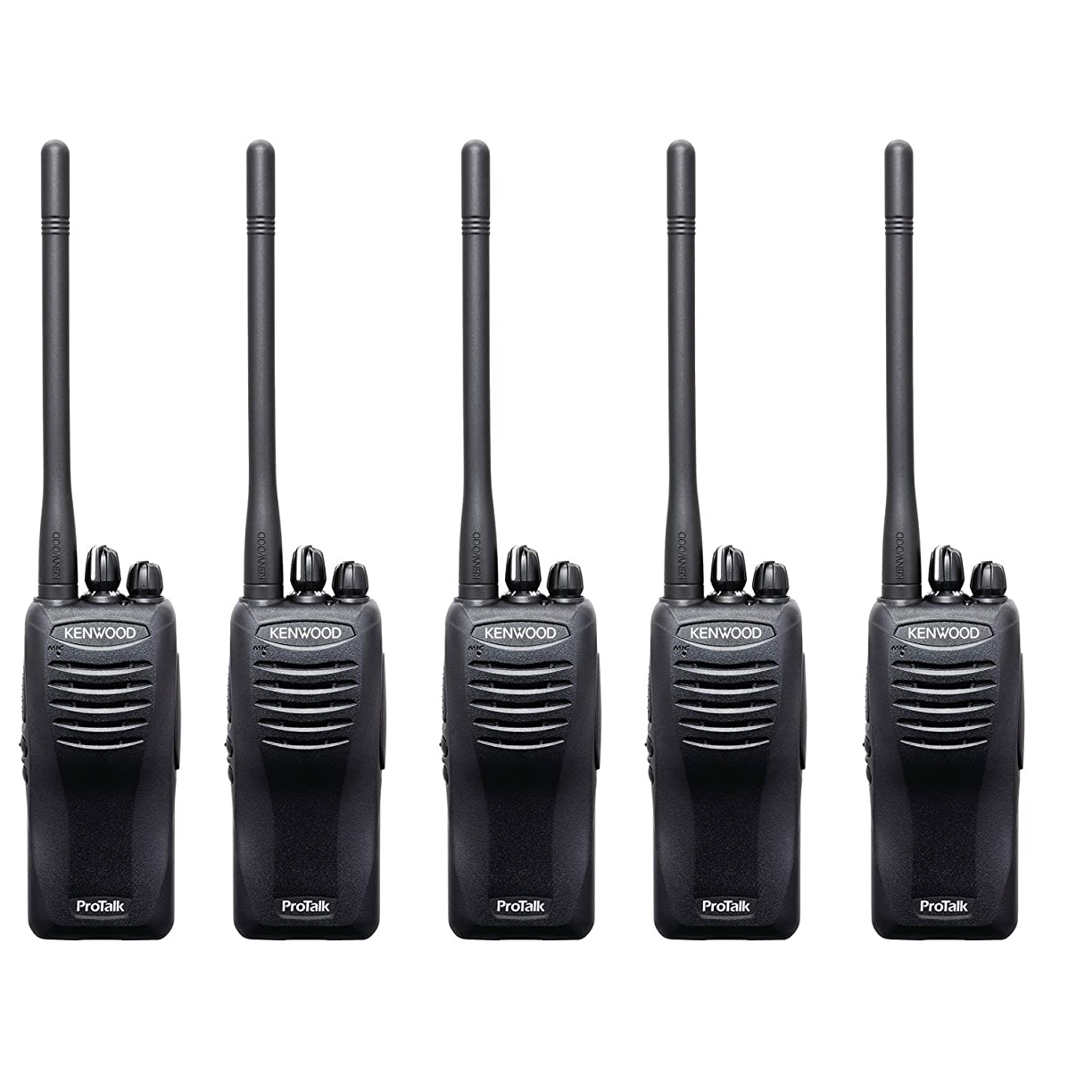 Kenwood ProTalk TK-2400V16P Compact VHF FM Portable 2-Way Radio (Pack of 5), 16 Total Channels, 2.0 Watt Output Power, 220000 Sq. Ft. / 13 Floor / 6 Mile Range