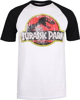 Jurassic Park Distressed Logo Camiseta para Hombre