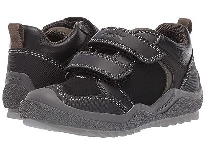 Geox Kids Jr Artach 2 (Toddler) (Black/Green) Boys Shoes