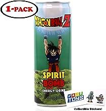 Dragon Ball Z Spirit Bomb Energy Drink 12 FL OZ (355mL) DBZ Goku Can With 2 GosuToys Stickers