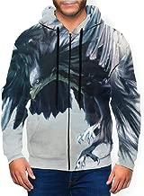 Cloud Eagle Float Spread Wings Men's Zipper Hooded Long Sleeve Pullover Casual Sweatshirt with Pocket