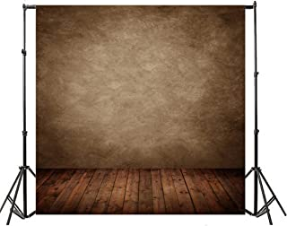 Yeele 8x8ft Vintage Brown Photography Backdrops Pastel Gradient Grunge Solid Abstract Wall Photo Background Brown Vertical Stripes Wood Floor Adult Baby Party Portrait Studio Prop Vinyl Wallpaper