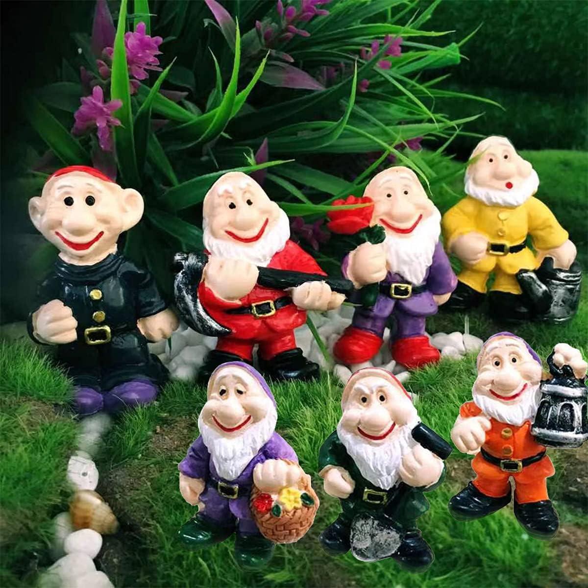 MIBUNG Sale Special Price 7pcs Miniature Garden Gnomes Tulsa Mall Statues Funny Mini -