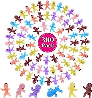 Mini Plastic Babies for Baby Shower, Selizo 300pcs Tiny Baby Figurines Mini Babies Bulk for Ice Cube Babies, Small King Ca...