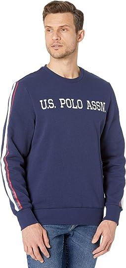 Flat Logo Print Fleece Sweatshirt