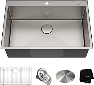 Kraus KHT300-33 Standart PRO Kitchen Stainless Steel Sink, 33 inch, Single Bowl