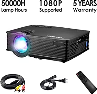 Mini Projector, PHONECT 2019 Upgraded 1080P and 176