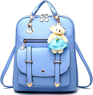 44a36e3791 Backpack for Women Large Capacity Multifunctional Fashion Pu Leather Bags  Casual Daypack