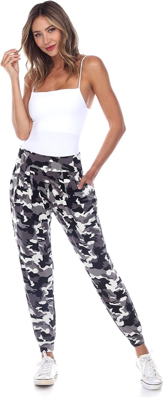 white mark Women's Camouflage Jogger Style Harem Lounge Pants with Pockets