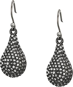Pave Drop Earrings