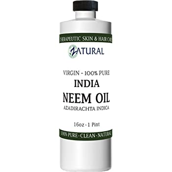 Organic Neem Oil (16 oz) 100% Pure Cold Press Skin, Hair, and Nails