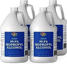 Savant 99% Isopropyl Alcohol - Four Gallons (512 Fluid Ounces) - USP Grade (Purest Grade) - Sealed - Rubbing Alcohol - 4X ...