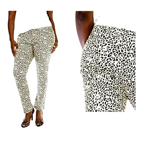 83226bba288 Jeans Colony Women s Plus Size Leopard Cheetah Animal Print Stretch Twill  Denim Jeans Skinny Pants