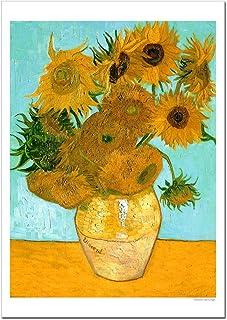 世界の名画 ゴッホ ひまわり ジークレー技法 高級ポスター (B4/257ミリ×364ミリ)