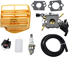 Carbhub C1M-EL37B Carburetor for Husqvarna 445 445E 450 450E Gas Chainsaw with Air Filter Tune Up Kit