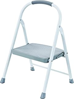 Rubbermaid RMS-1 1-Step Steel Step Stool, 225-pound Capacity (Renewed)