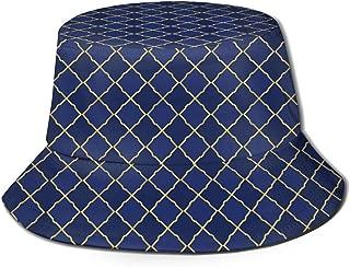 Logistics Pattern Unisex Bucket Hat Reversible Fisherman Hat Plant Printed Solid Color Outdoor Sun Hat Packable