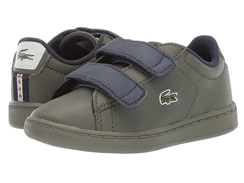 Lacoste Kids Carnaby Evo Strap 119 1 SUI (Toddler/Little Kid) (Dark Khaki/Navy) Kid
