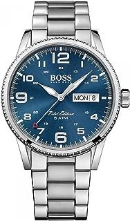 Hugo Boss Pilot Vintage 1513329 Silver / Blue Stainless Steel Analog Quartz Men's Watch