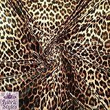 Jersey-Stoff FS005_1 Leopardenmuster Stretch Samt Polyester