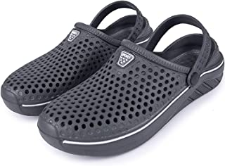 Brfash Garden Clogs Shoes Mens Womens Breathable Mesh Sandals Mule Non-Slip Outdoor Summer Slippers Lightweight Water Beac...