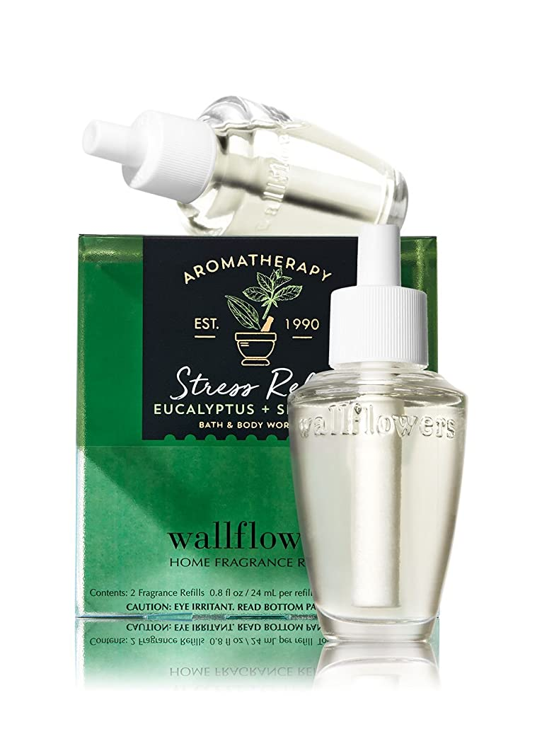 起こる訪問汚れる【Bath&Body Works/バス&ボディワークス】 ルームフレグランス 詰替えリフィル(2個入り) ストレスリリーフ ユーカリスペアミント Wallflowers Home Fragrance 2-Pack Refills Stress Relief Eucalyptus Spearmint [並行輸入品]