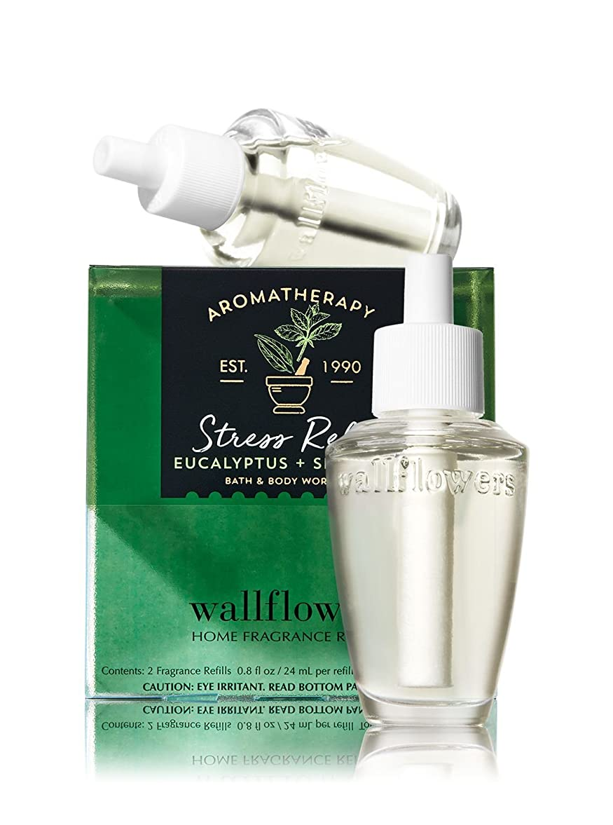 前置詞全体に洞察力のある【Bath&Body Works/バス&ボディワークス】 ルームフレグランス 詰替えリフィル(2個入り) ストレスリリーフ ユーカリスペアミント Wallflowers Home Fragrance 2-Pack Refills Stress Relief Eucalyptus Spearmint [並行輸入品]