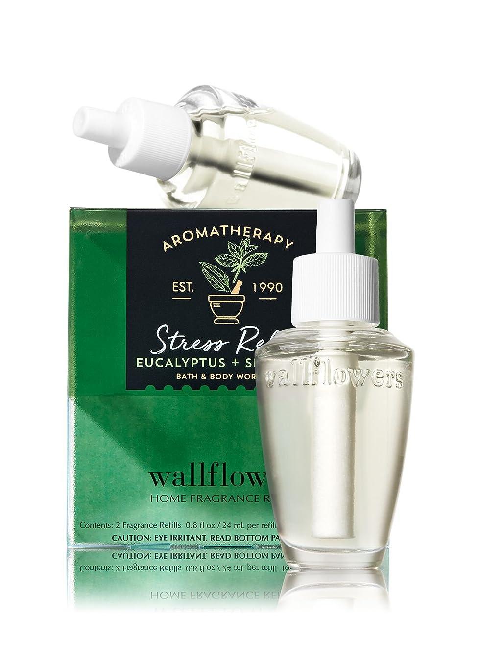 黒人学部長噴水【Bath&Body Works/バス&ボディワークス】 ルームフレグランス 詰替えリフィル(2個入り) ストレスリリーフ ユーカリスペアミント Wallflowers Home Fragrance 2-Pack Refills Stress Relief Eucalyptus Spearmint [並行輸入品]