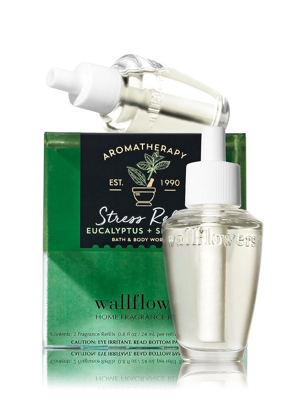 拡張現代ルーチン【Bath&Body Works/バス&ボディワークス】 ルームフレグランス 詰替えリフィル(2個入り) ストレスリリーフ ユーカリスペアミント Wallflowers Home Fragrance 2-Pack Refills Stress Relief Eucalyptus Spearmint [並行輸入品]