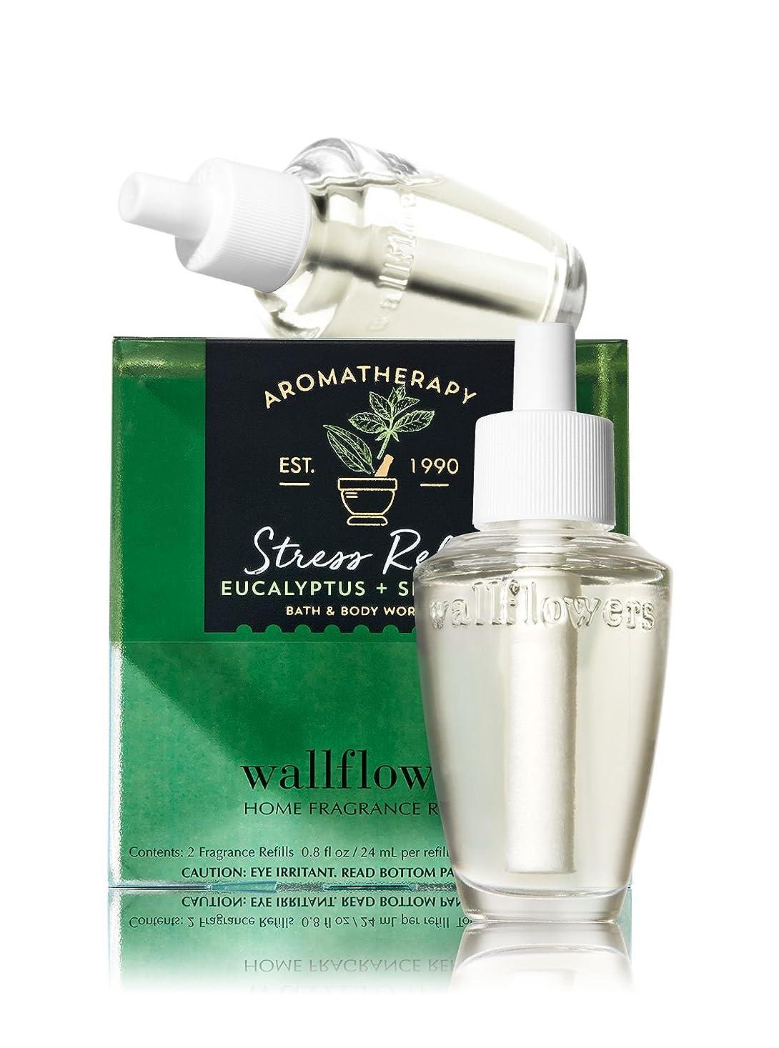兵器庫バッフル絶対の【Bath&Body Works/バス&ボディワークス】 ルームフレグランス 詰替えリフィル(2個入り) ストレスリリーフ ユーカリスペアミント Wallflowers Home Fragrance 2-Pack Refills Stress Relief Eucalyptus Spearmint [並行輸入品]