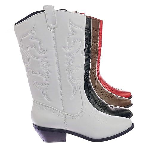 97bd18ba563 White Cowboys Boots: Amazon.com