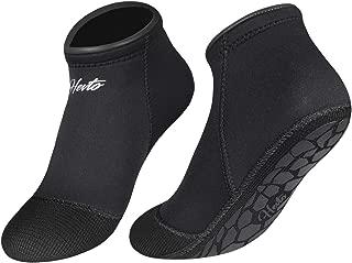 Hevto Neoprene Diving Socks 3mm Sand Waterproof Glued Seal Scuba Snorkeling Fins Socks for Beach Swim Water Sports
