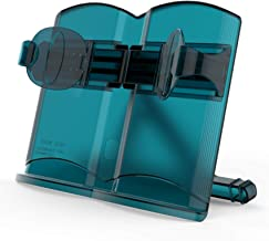 Book Stand Document Holder 180° Angle Adjustment Portable Reading (Blue-Book)