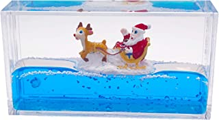 Universal Specialties Liquid Wave Paperweight Desk Toy (Santa Claus & Rudolph)