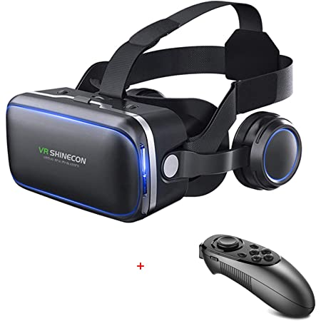 VR SHINECON-Virtual Reality VR Headset 3D Glasses Headset Helmets VR Goggles for TV, Movies & Video Games Compatible iOS, Android &Support 4.7-6.53 inch iOS System is Not Compatible with Handle