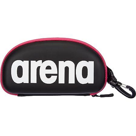 Arena Unisex Swimming Goggles Case for Swimming Goggles (Hard Shell, Carabiner), Black White Fuchsia (509), One Size