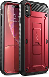 SUPCASE [Unicorn Beetle Pro Series] Case Designed for iPhone XS Max , Full-Body Rugged Holster Case with Built-In Screen Protector kickstand for iPhone XS Max 6.5 Inch 2018 Release (MetallicRed)
