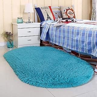Noahas Ultra Soft 4.5cm Velvet Bedroom Rugs Kids Room Carpet Modern Shaggy Area Rugs Home Decor 2.6' X 5.3', Blue