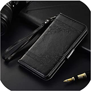 フリップレザーケースXiaomi Redmi Note 8 7 3 4 4X 5A 5 6 Proバックカバー電話バッグオンRedmi 8 8A 7A 6A 4A 5A 5 Plus Mi Cc9EケースXiaomi Mi 5Sオイルブラック
