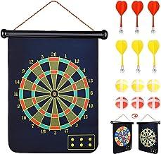Abree Dartbord, magnetisch dartbord, werpspel, klittenband, voor binnen en buiten, om op te hangen, met 6 ballen en 6 pijl...