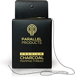 Parallel Products - Premium Eyebrow Mapping String for Microblading - Pre-Inked - 1 mm Fine Bamboo Charcoal Thread