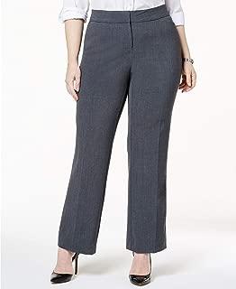 JM Collection Plus & Petite Plus Size Curvy-Fit Straight-Leg Pants Gray
