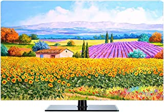 KOIOK 22-80 Inches Indoor TV Cover Microfiber Cloth High Definition Printing Waterproof and Dustproof Compatible with Standard Mounts & Stands - Edinburgh 40 inch