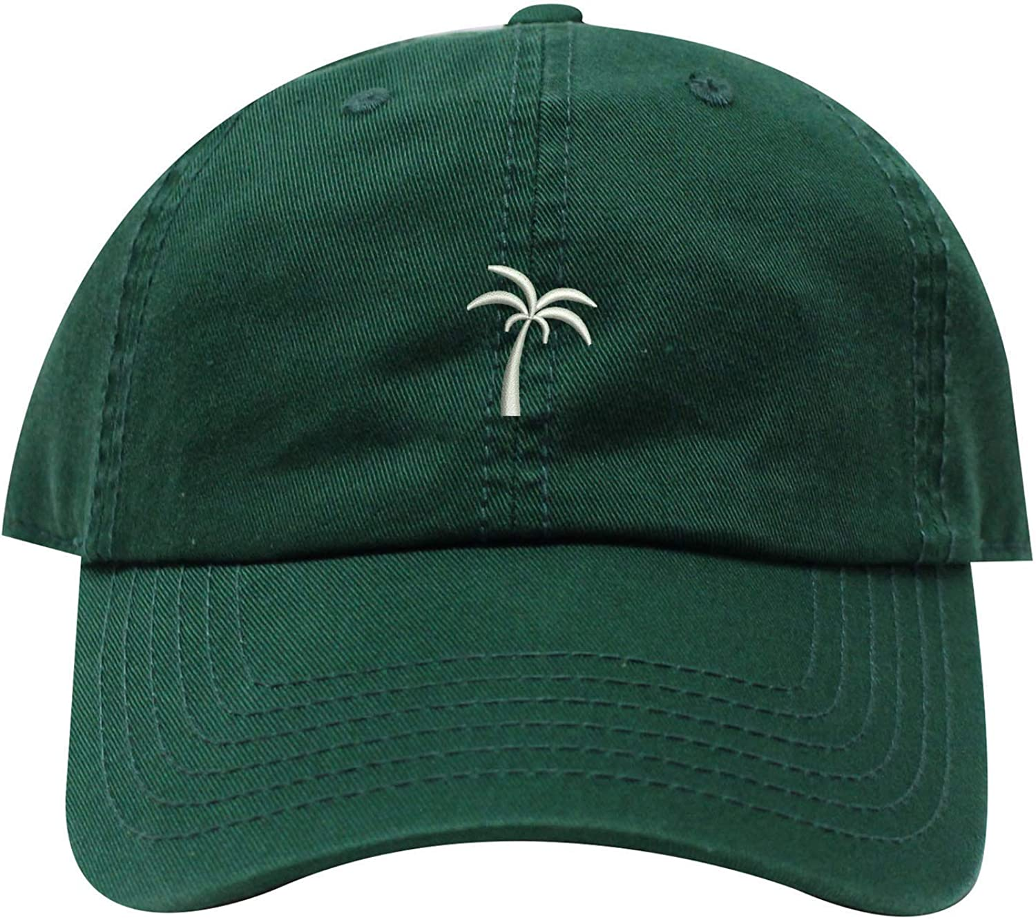 INK STITCH Palm Seasonal Wrap Introduction Tree Summer Unstructured Baseball 4 years warranty Caps 21 Cotton