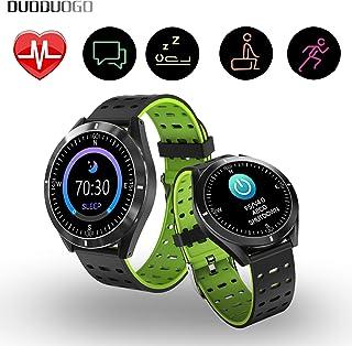 comprar comparacion DUODUOGO Smartwatch Reloj Inteligente, Pulsera Deportiva Monitor Impermeable Bluetooth Multifunción Presión Arterial Frecu...